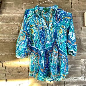 Ralph Lauren sheer blouse